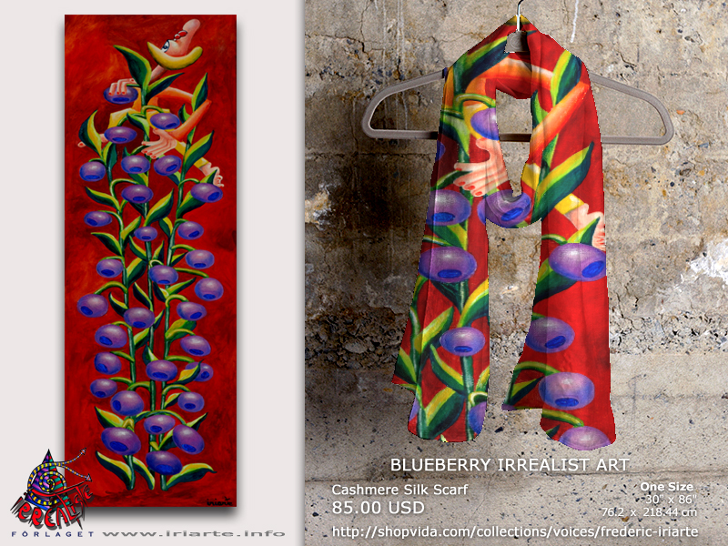 Cashmere Silk Scarf designed by Frédéric Iriarte - Producent Irrealist Art Editions / ShopVida