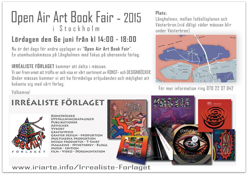 Irréaliste Förlaget delta i OPEN ART BOOK FAIR 2015 - Långholmen, STOCKHOLM