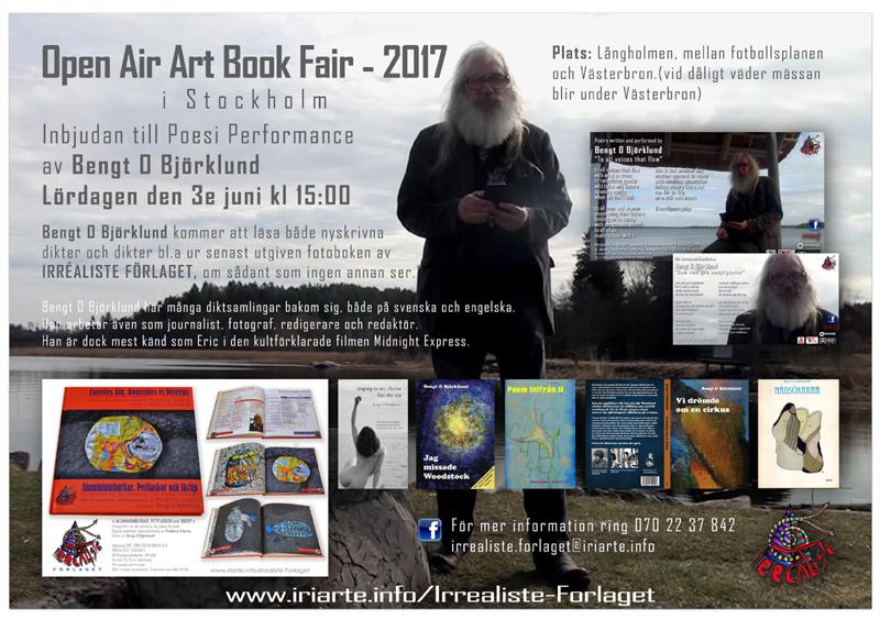 Irréaliste Förlaget delta i OPEN ART BOOK FAIR 2017 - Långholmen, STOCKHOLM