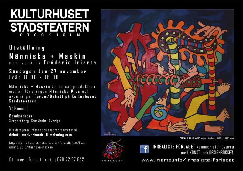 Utställning Människa + Maskin med verk av Frédéric Iriarte - Kulturhuset Stadsteatern